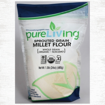 PureLiving Organic Sprouted Millet Flour // Item 402031