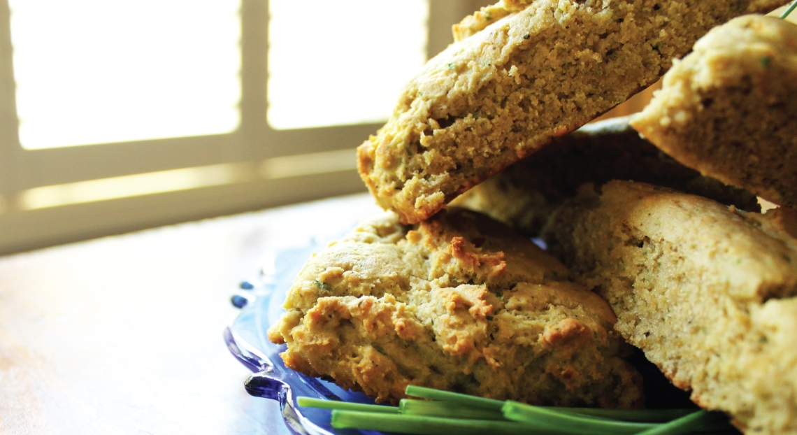 Cheddar & Chive Scones using PureLiving Sprouted Flours