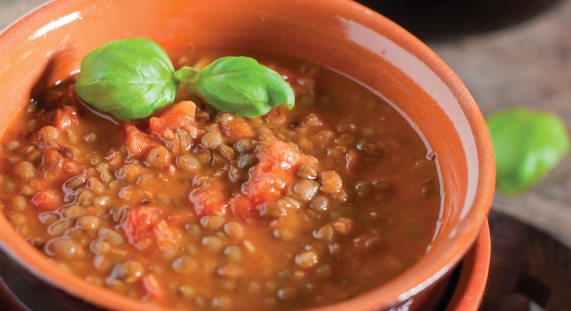 Simple Slow Cooker Sprouted Lentil Soup