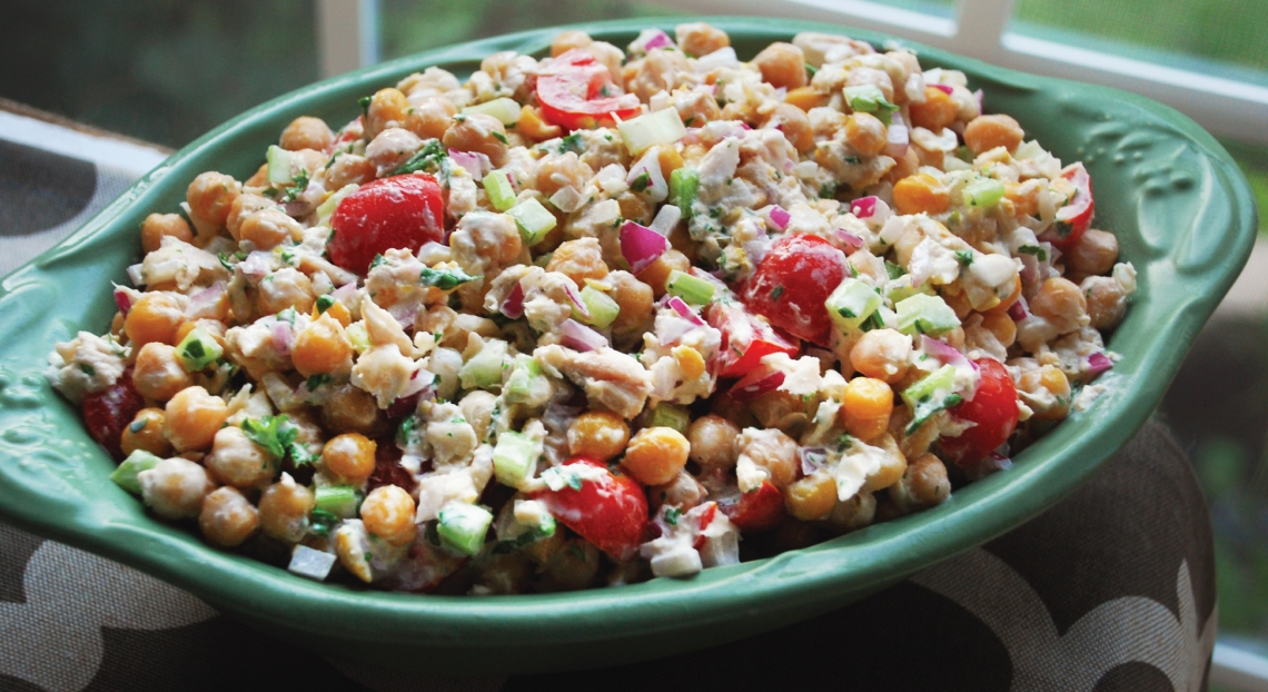 PureLiving Tuna-Bean Salad with Creamy Lemon Dressing